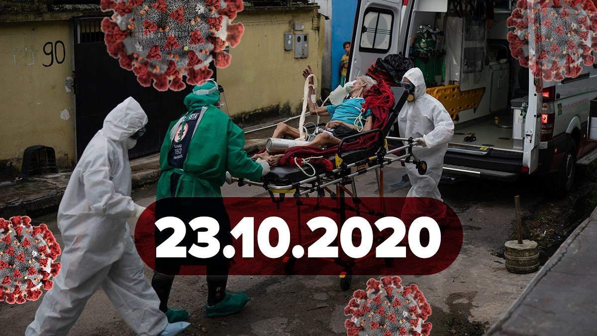 Коронавірус Україна, статистика 23 жовтня 2020: статистика, новини