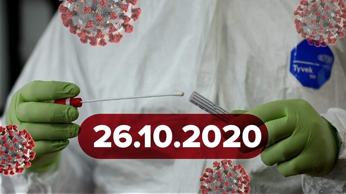 Коронавірус Україна, статистика 26 жовтня 2020: статистика, новини