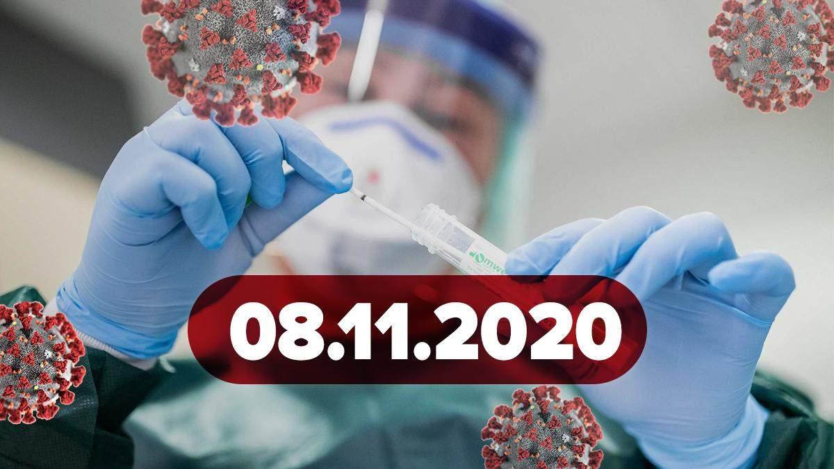 Новини про коронавірус 8 листопада: тривожні цифри в Україні та світі, протести в Німеччині