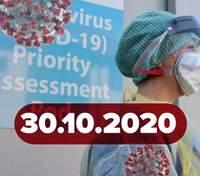 Новини про коронавірус 30 жовтня: рекорд хворих та жертв в Україні, ще одна вакцина майже готова
