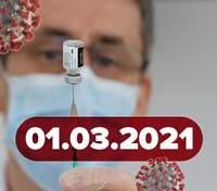 Новини про коронавірус 1 березня: Степанов отримав щеплення, сайт для запису на вакцинацію