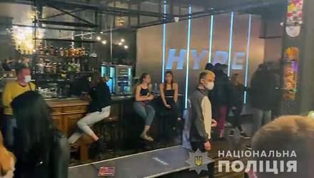 В Киеве устроили облаву на рестораны, которые работают во время локдауна: фото, видео