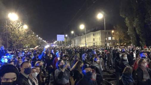 В Польше разогнали протест против усиления запрета абортов: фото, видео