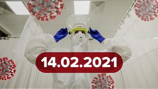 Новини про коронавірус 14 лютого: безсимптомні хворі, сертифікати вакцинації