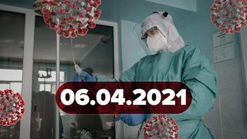 Новини про коронавірус 6 квітня: Україна отримає 10 мільйонів Pfizer, дані про утворення тромбів
