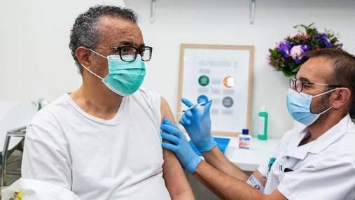 Проти коронавірусу вакцинувався глава ВООЗ Гебреїсус