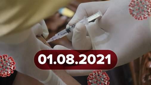 Новини про коронавірус 1 серпня: препарати у річках, хакерська атака на систему вакцинації