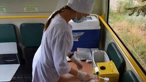 В Кропивницком людей начали вакцинировать в автобусах: видео