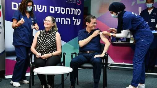Первый в мире: президент Израиля Герцог получил третью дозу вакцины против коронавируса