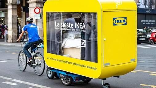 У Парижі IKEA запустила вагончики для післяобіднього сну