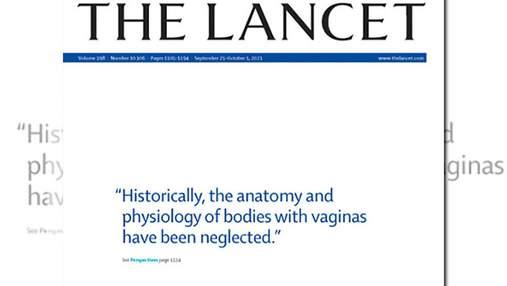"""Авторитетный журнал The Lancet назвал женщин """"телами с вагинами"""": детали скандала"""