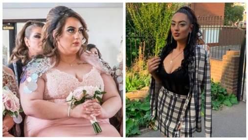 Подружка невесты сбросила 74 килограмма, увидев свадебные фото: крутая трансформация